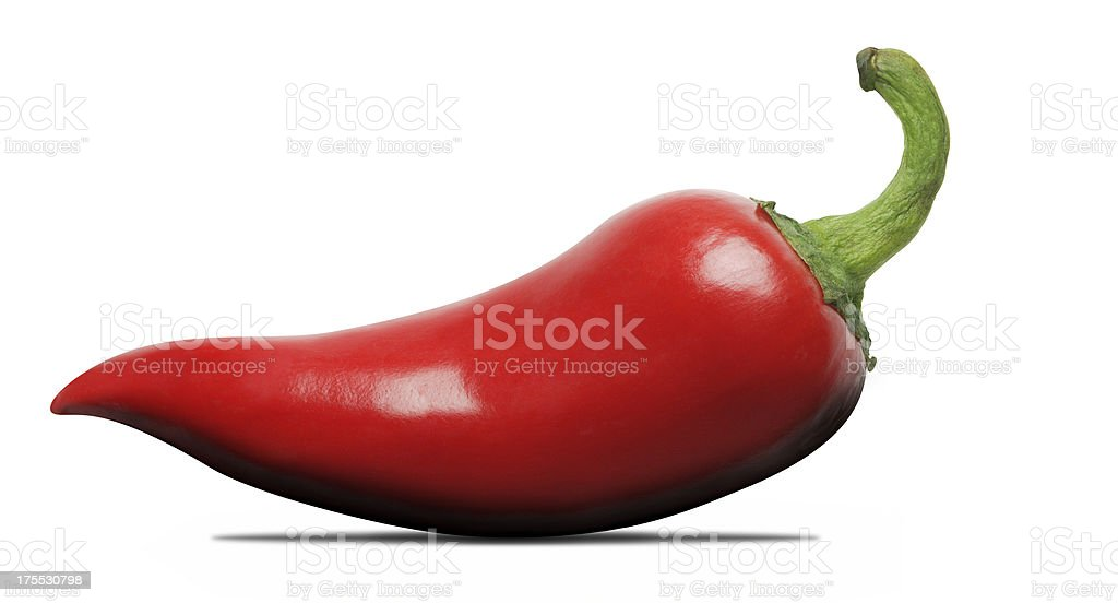 Red Jalapeno Chili Pepper stock photo
