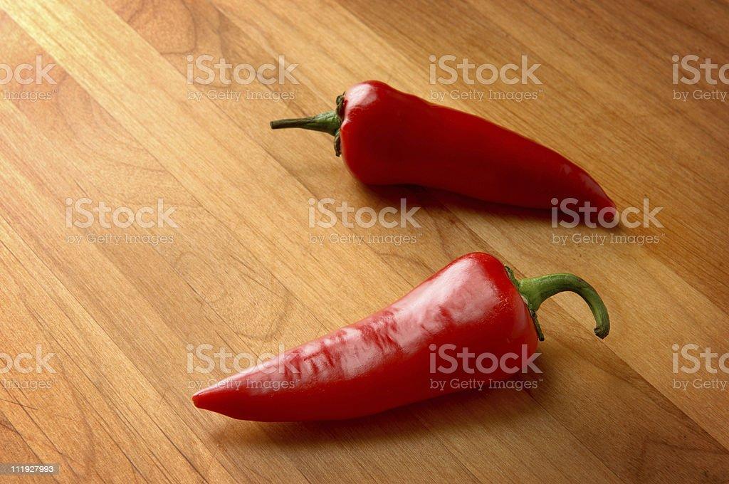 Red Jalapenos stock photo