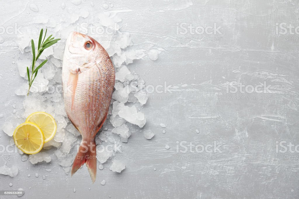Red Japanese seabream cooking stock photo