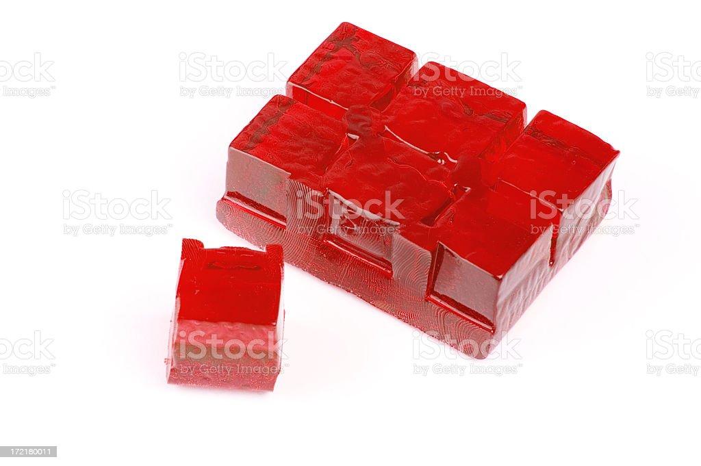 Red Jello royalty-free stock photo