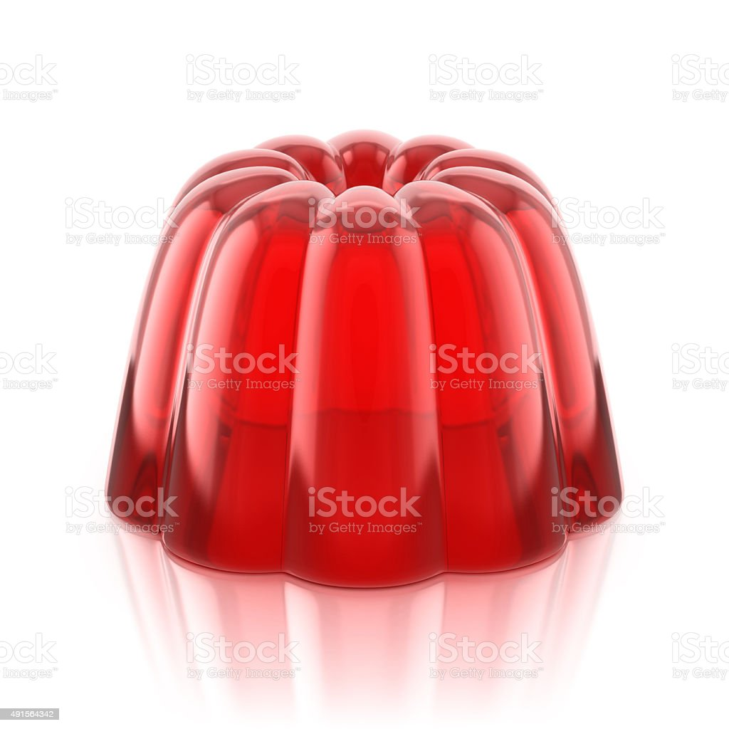 red jelly pudding stock photo