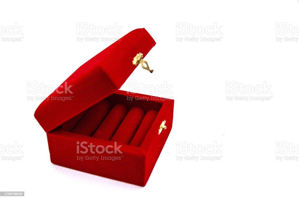 red jewel box royalty-free stock photo