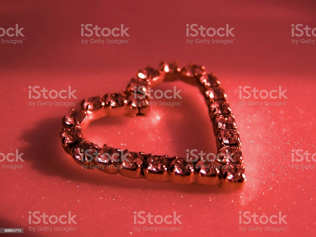Red Jeweled Heart stock photo