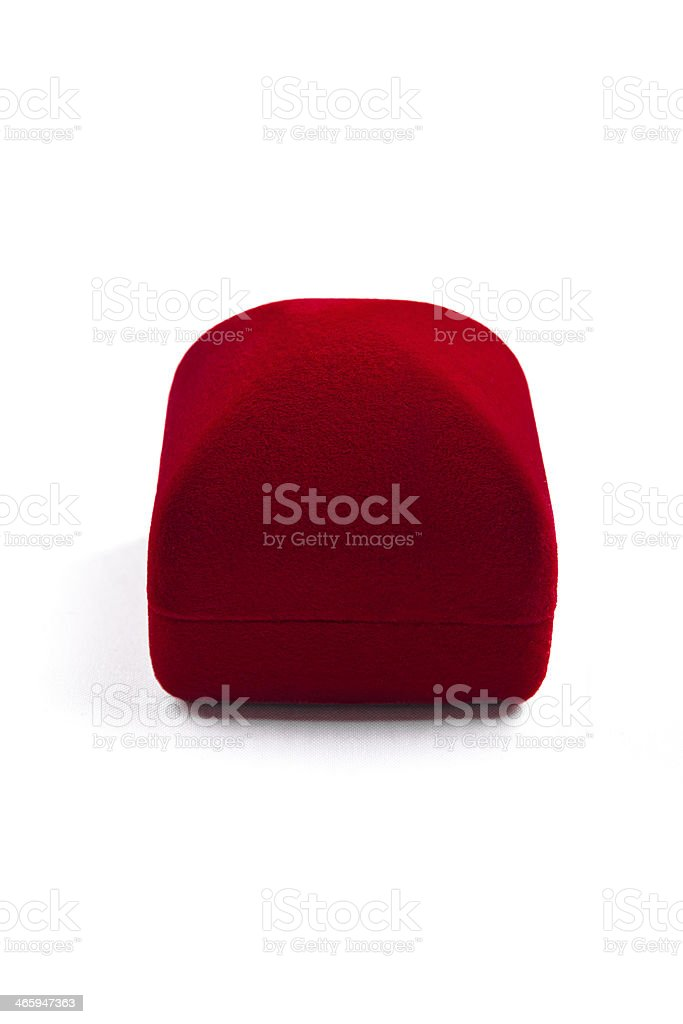 red jewelery box stock photo