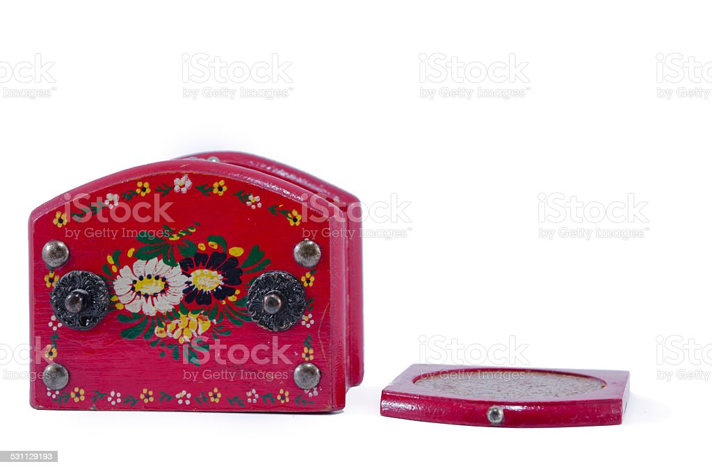 Red jewelry box isolated royalty-free stock photo