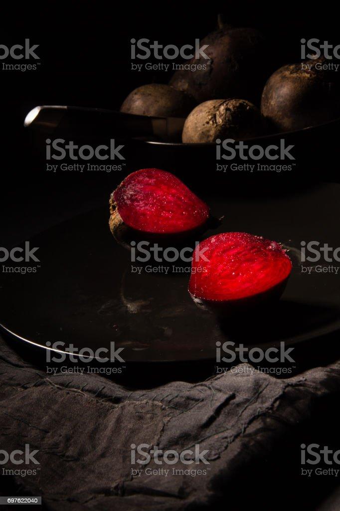 Red juicy beetroot stock photo