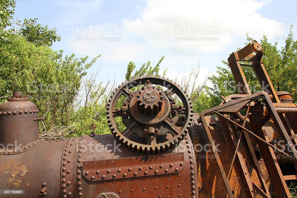 Red Junkyard royalty-free stock photo