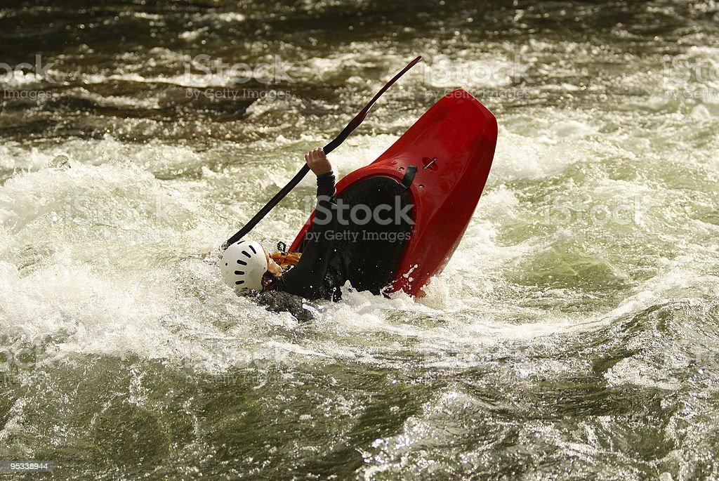 red kayak stock photo