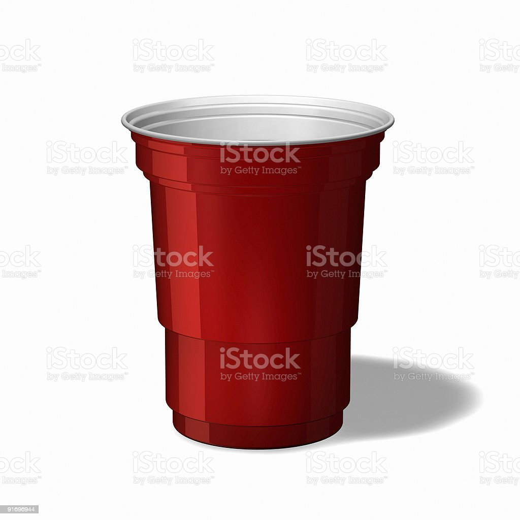 Red Keg Cup royalty-free stock photo