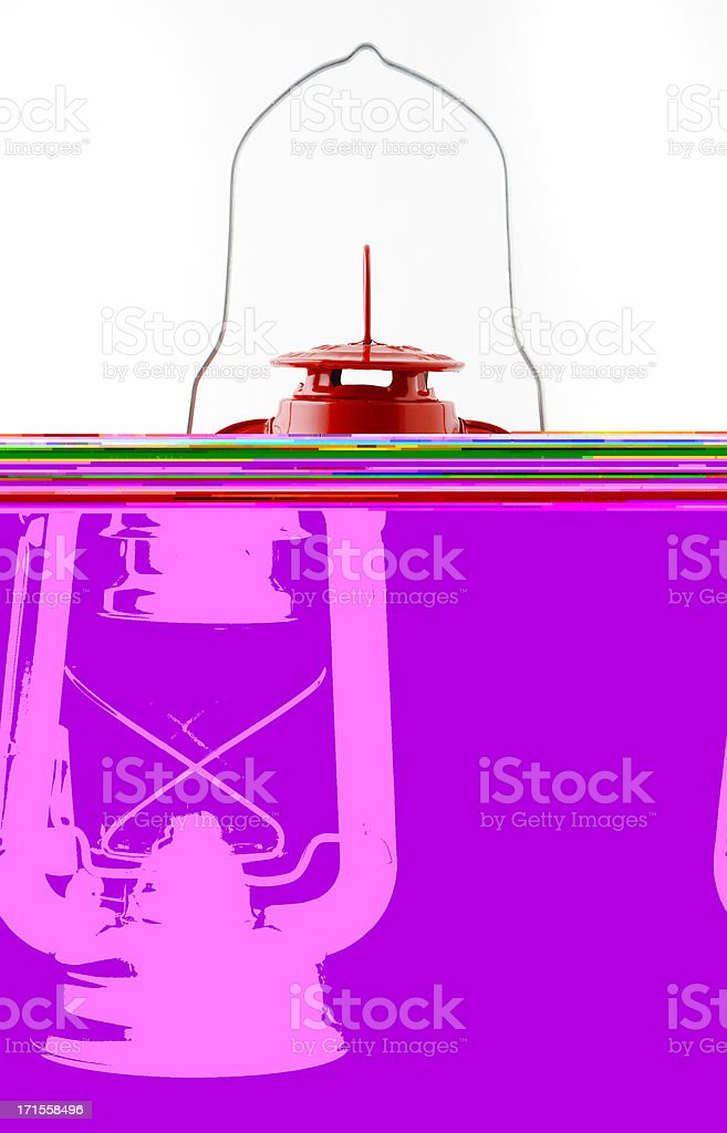 red kerosene lamp royalty-free stock photo