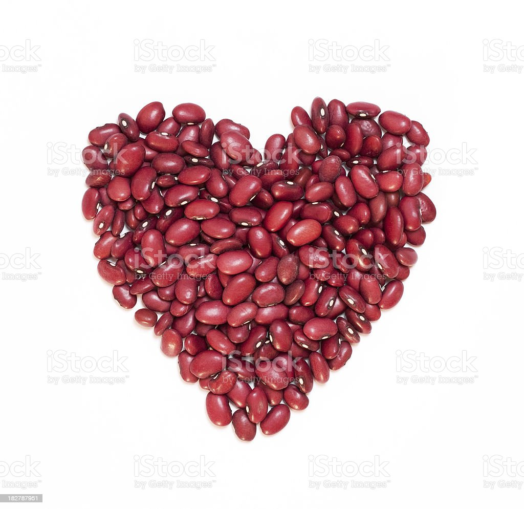 Red Kidney Bean Heart royalty-free stock photo