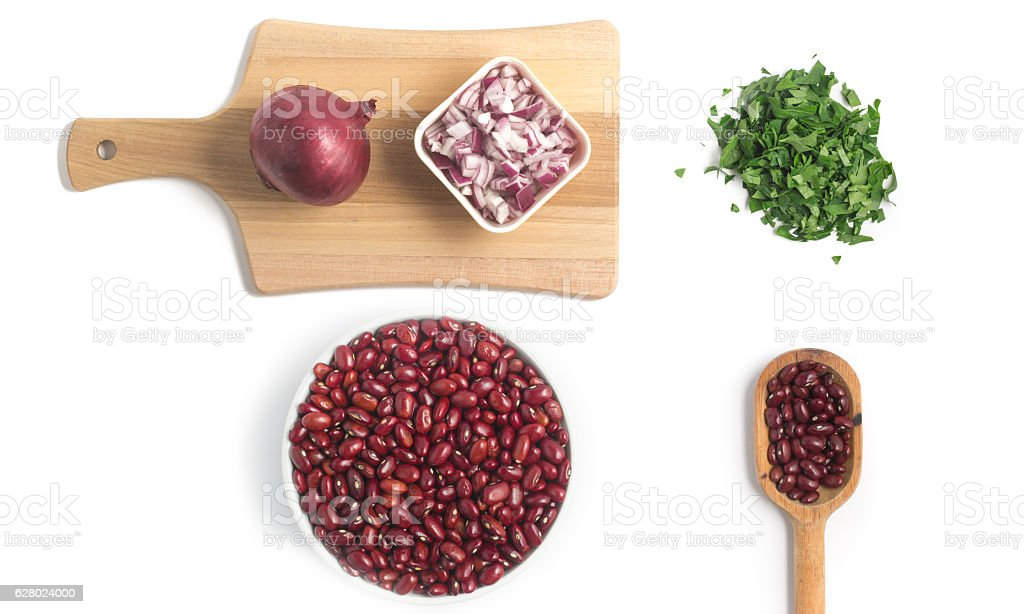 Red Kidney Beans ingredients stock photo