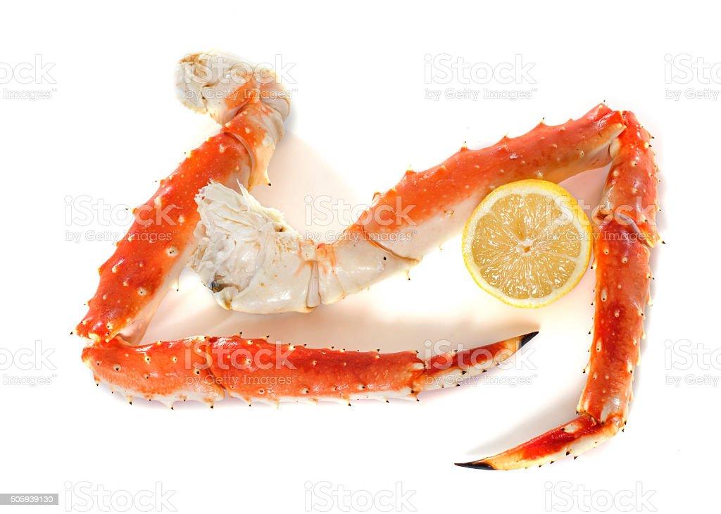 Red king crab leg stock photo