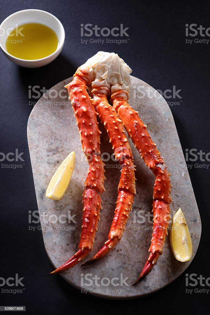 Red king crab legs stock photo