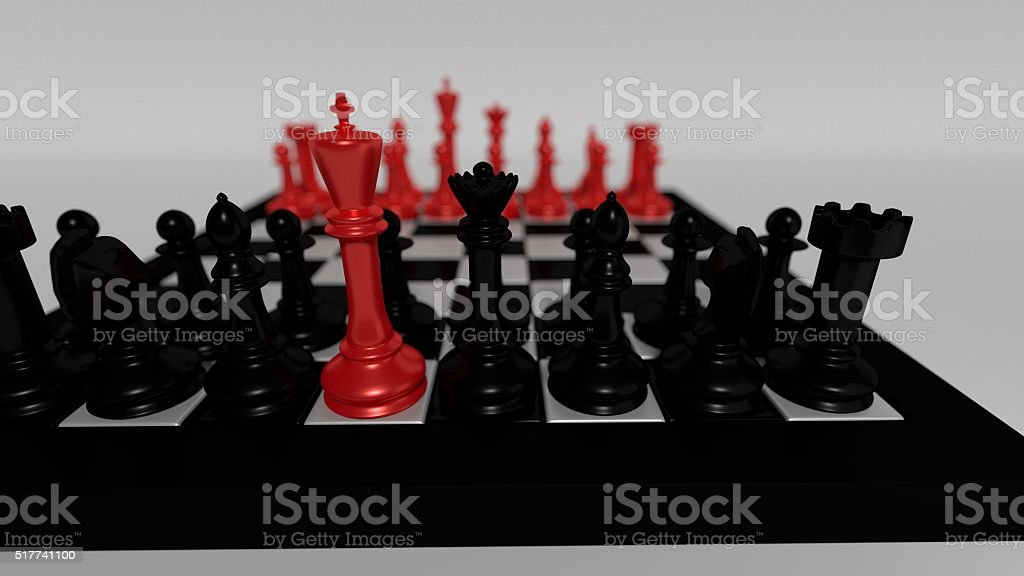 red king for black pieces stock photo