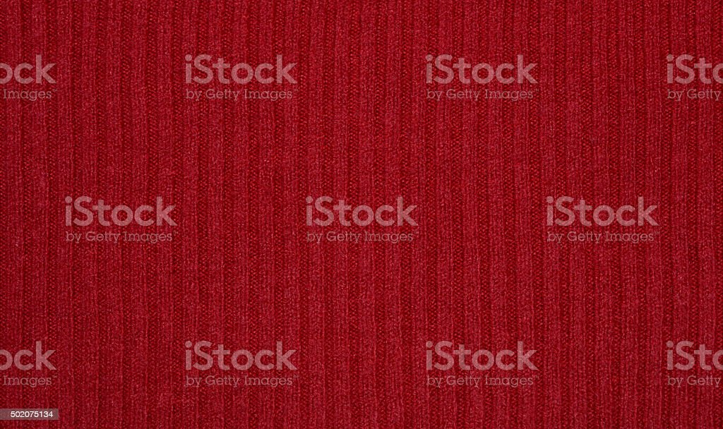 Red knitted sweater texture, background stock photo