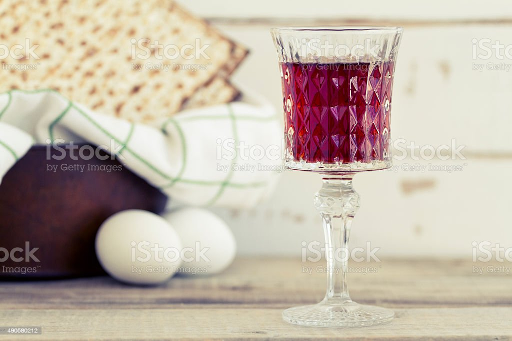 Red Kosher Wine stock photo