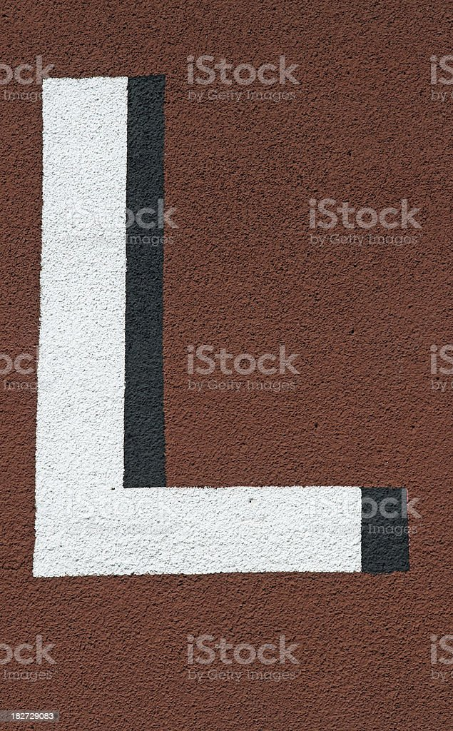 Red L royalty-free stock photo