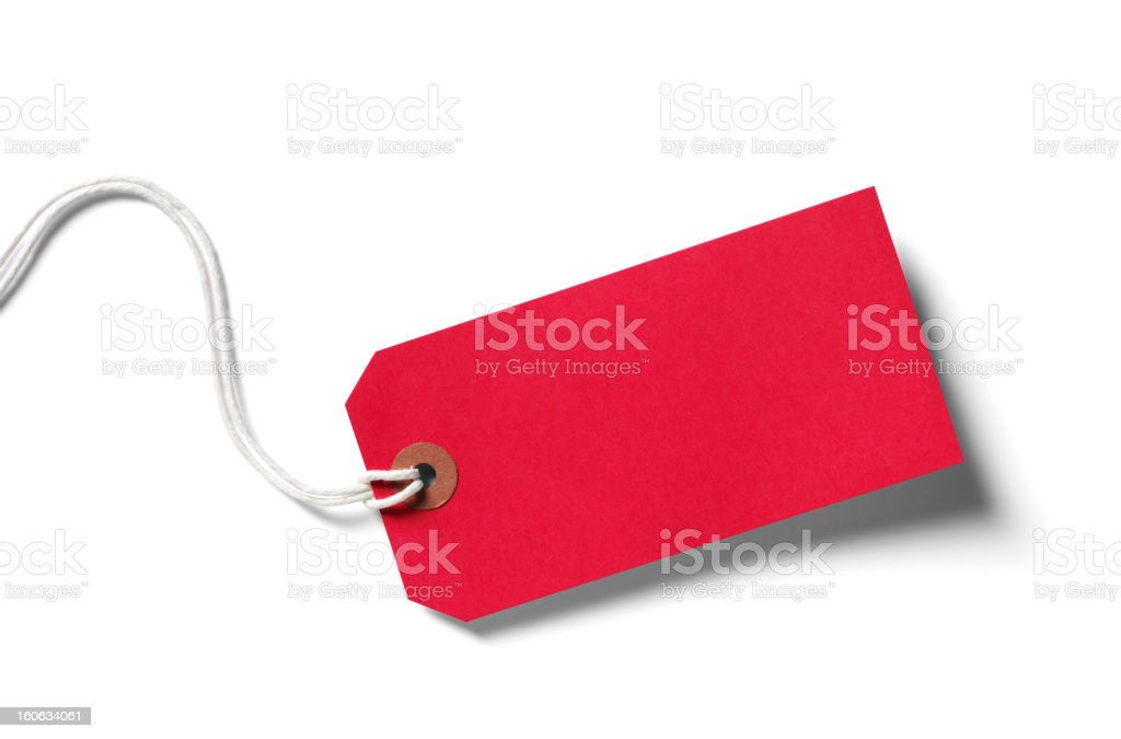 Red Label stock photo