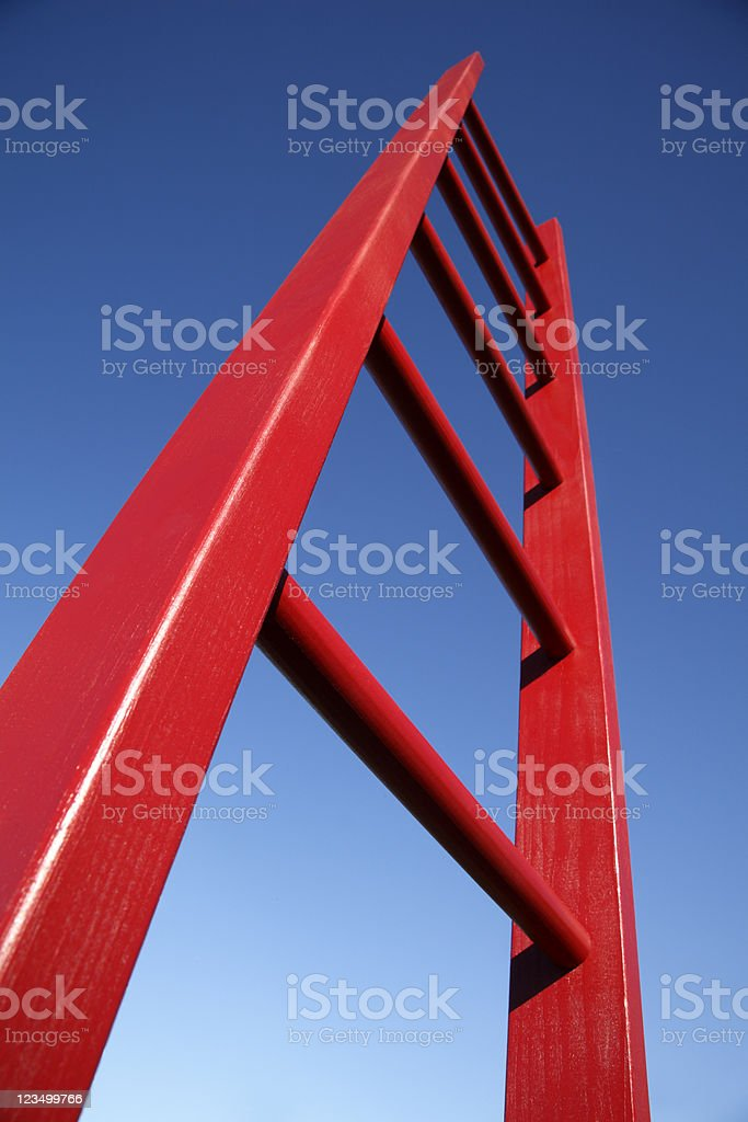 Red Ladder royalty-free stock photo