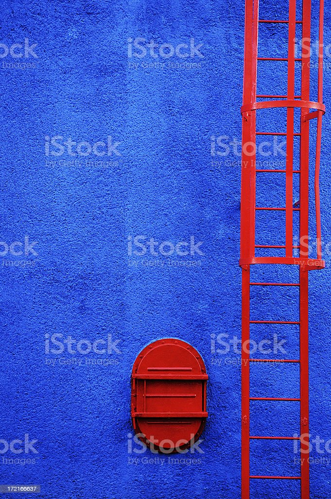 Red ladder vertical stock photo
