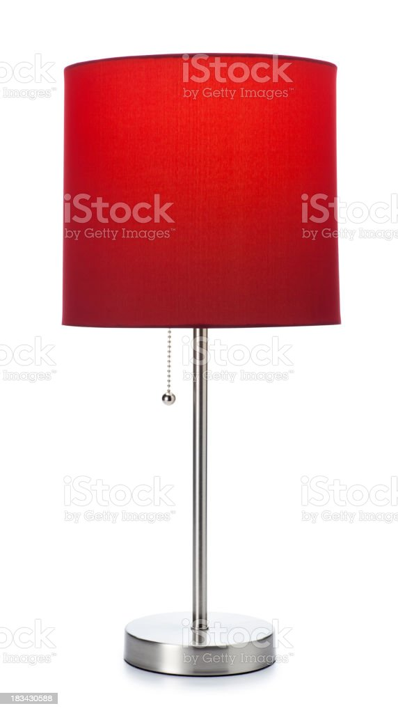 Red Lamp Isolated on white stock photo