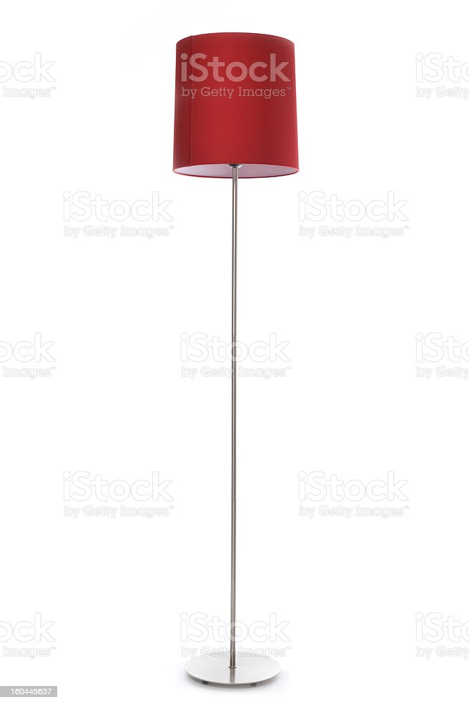 Red lamp stock photo