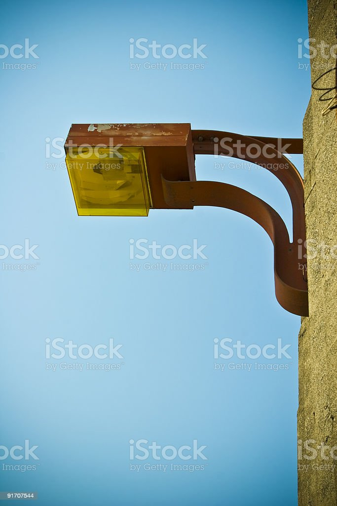Red lamp, yellow light royalty-free stock photo