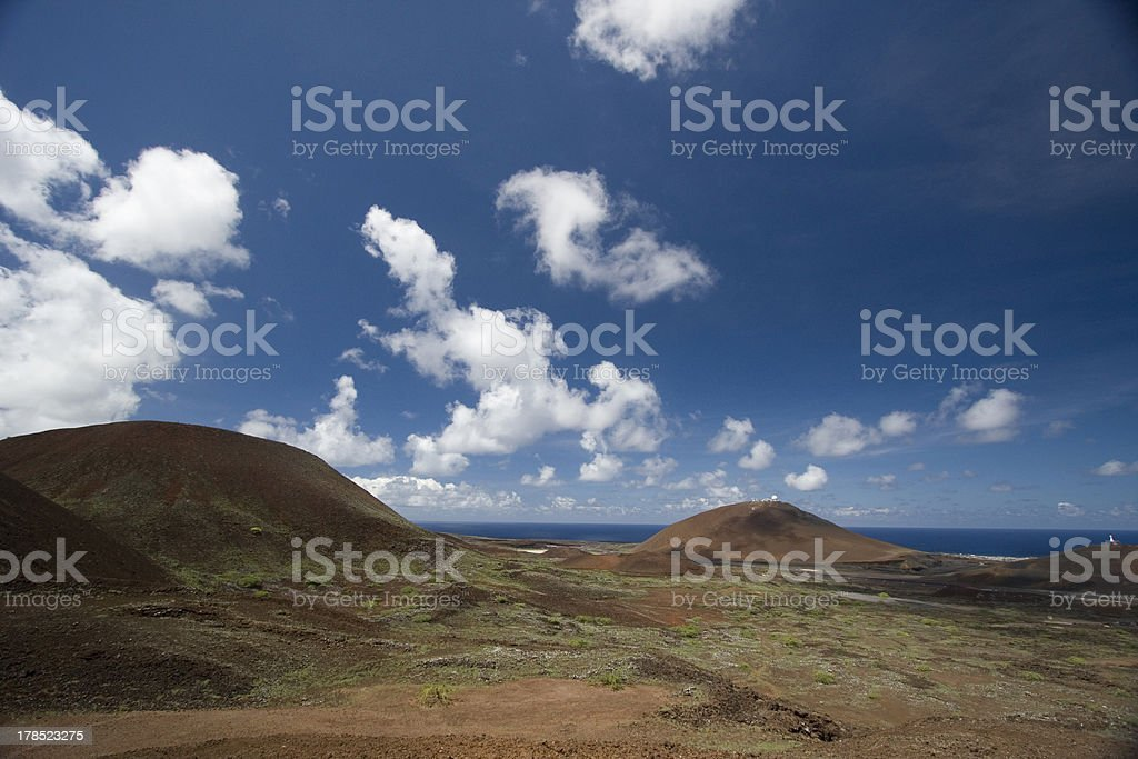 Red Landscape, Ascesion Island stock photo