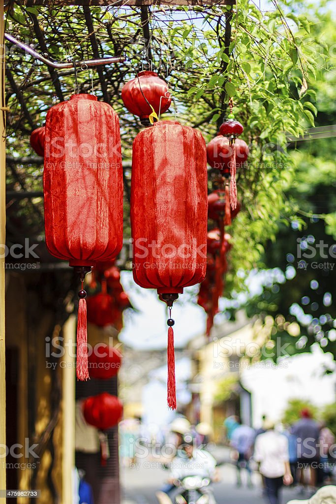 Red lantern at Hoi An royalty-free stock photo