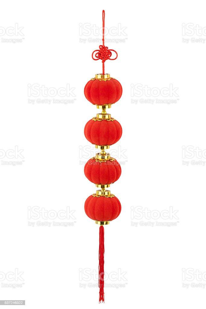 Red lantern pendants stock photo