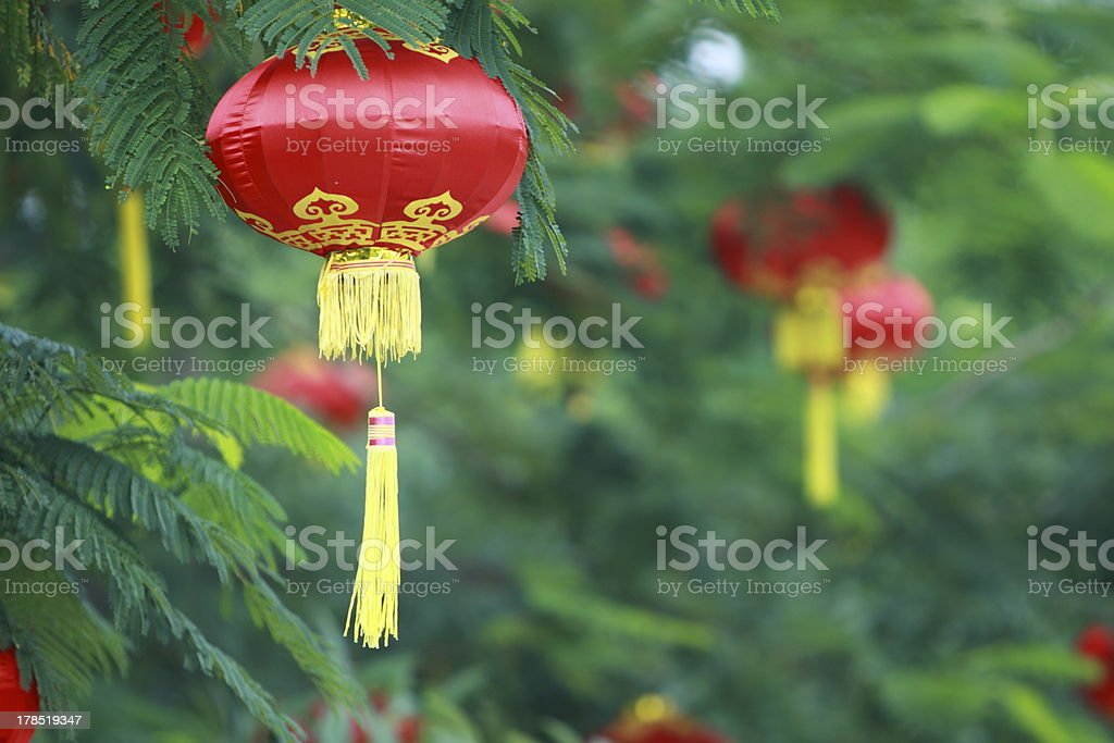 Red lanterns royalty-free stock photo
