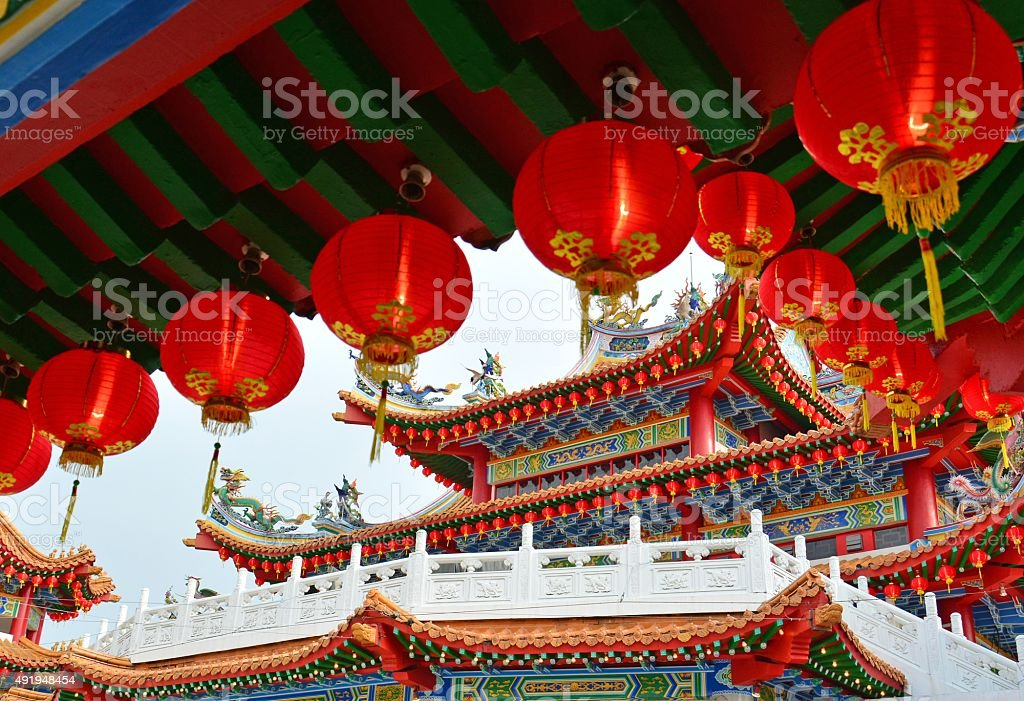 Red Lanters - Chinese New Year stock photo