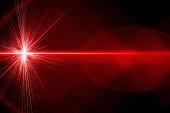 Red laser ray