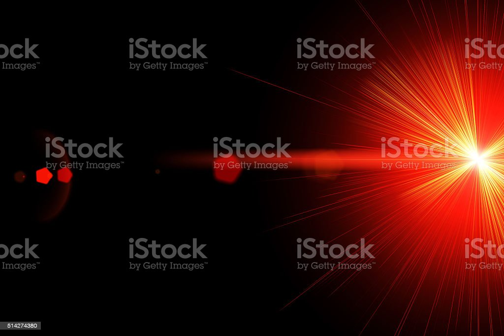 Red laser ray stock photo