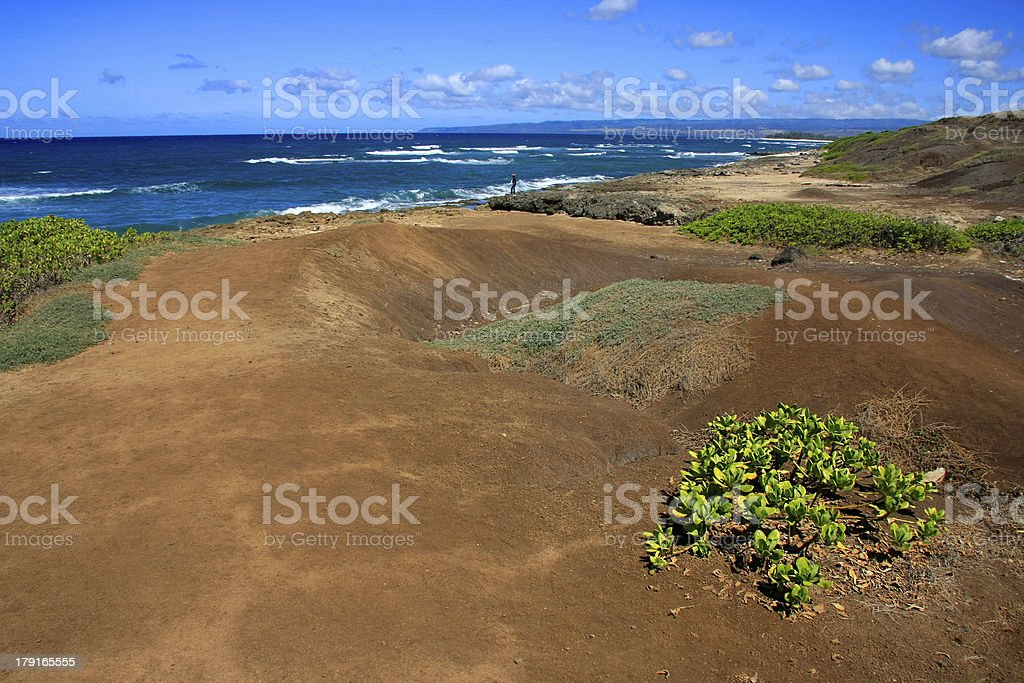 Red lava sand royalty-free stock photo