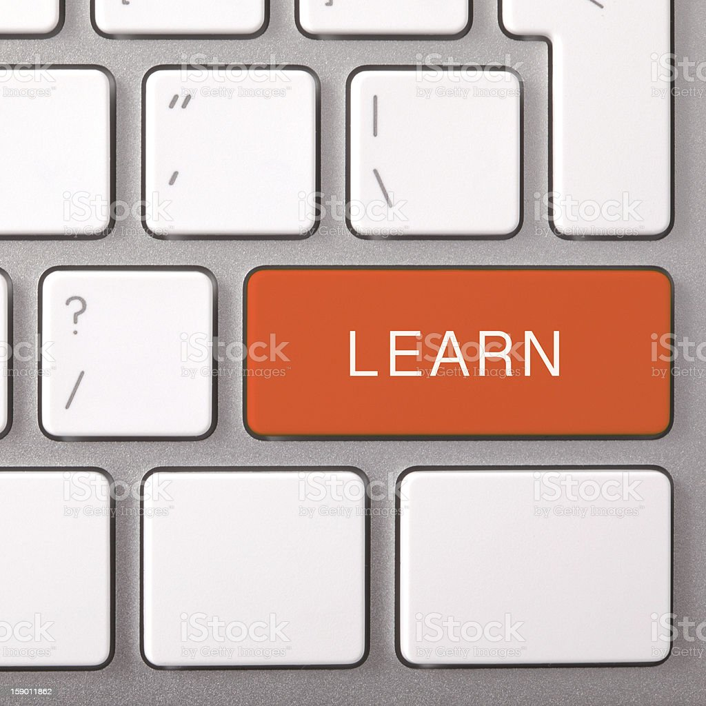 Red LEARN button. royalty-free stock photo