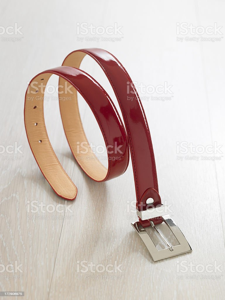 red leather belt, accessory waistband royalty-free stock photo