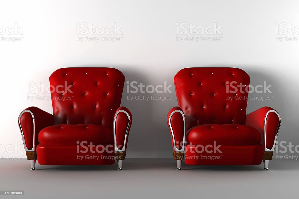 Red leather chair royalty-free stock photo