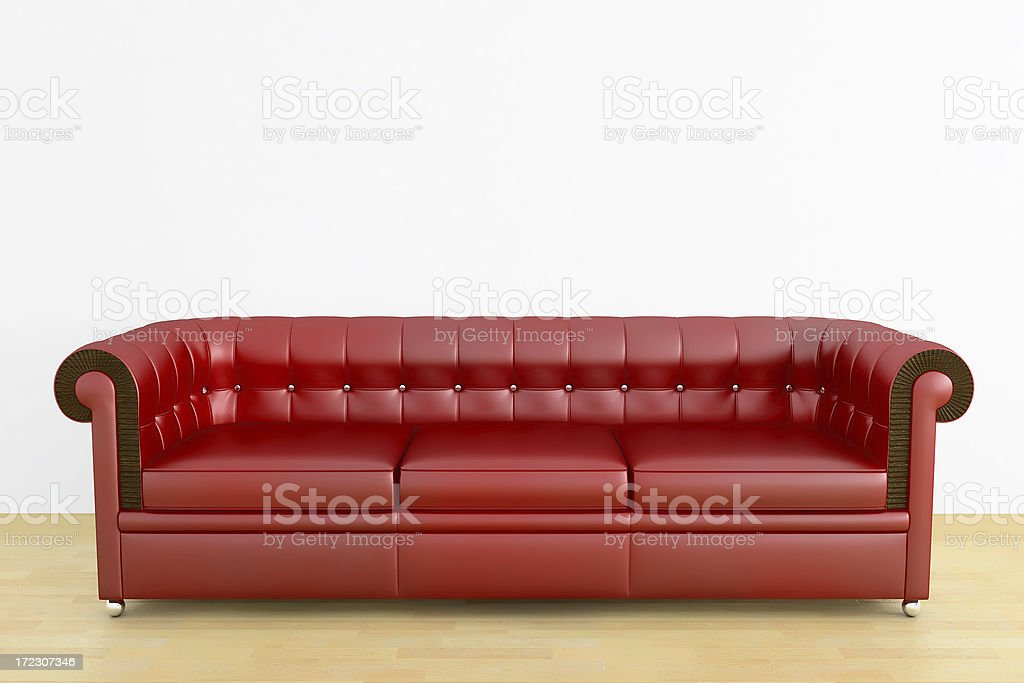 red leather couch royalty-free stock photo