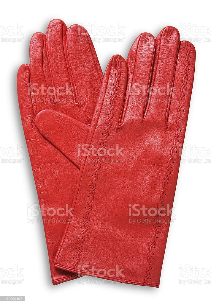 red leather gloves royalty-free stock photo