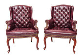 Red Leather Guest Chairs