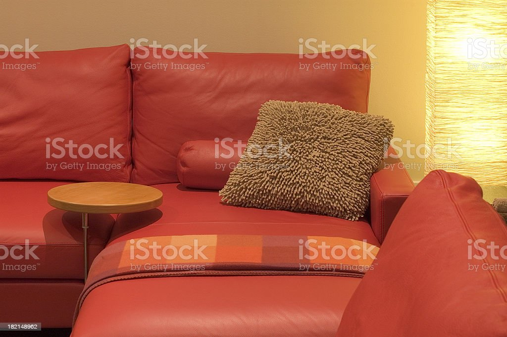 Red Leather Interioir 1 royalty-free stock photo