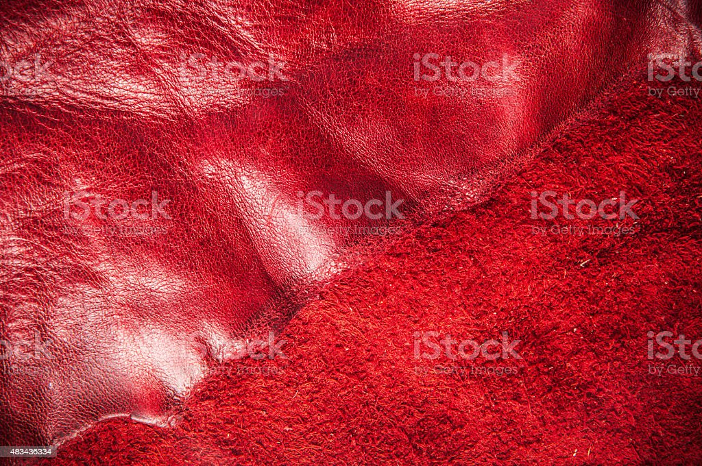 Red Leather. stock photo