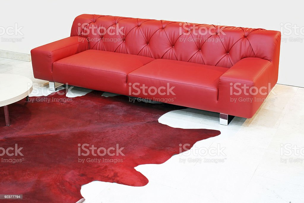 Red leather royalty-free stock photo