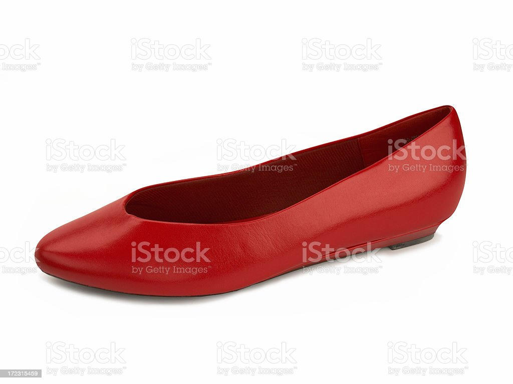Red Leather Shoe stock photo