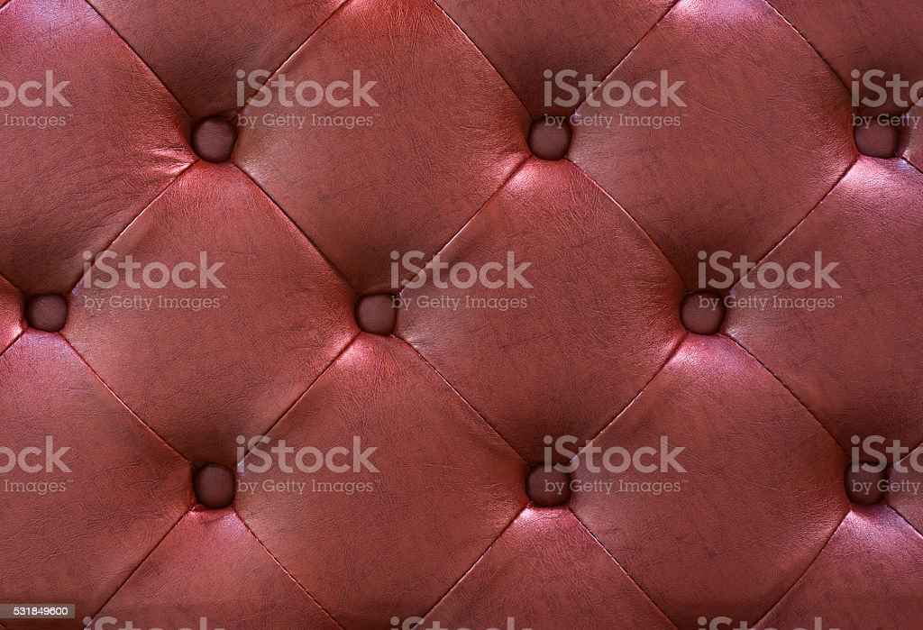 Red leather texture as background stock photo