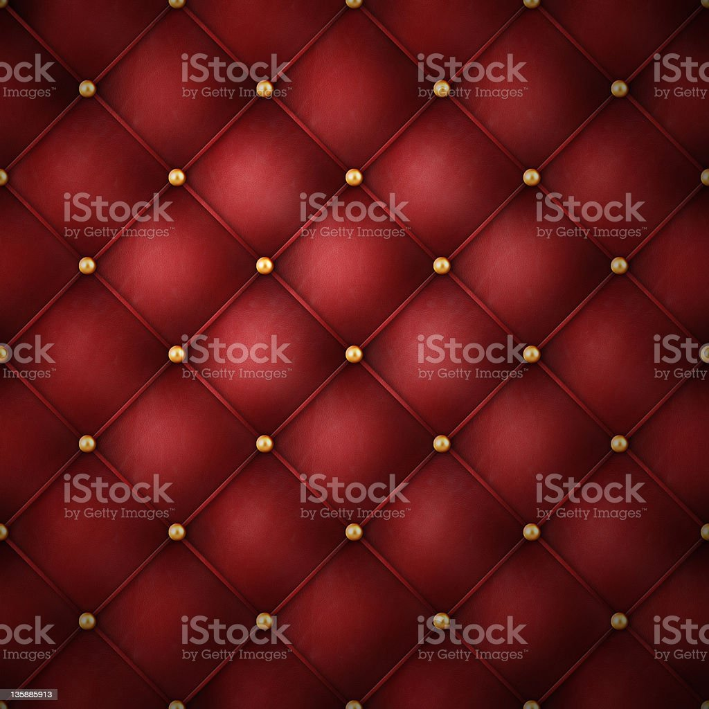 red leather with golden buttons royalty-free stock photo