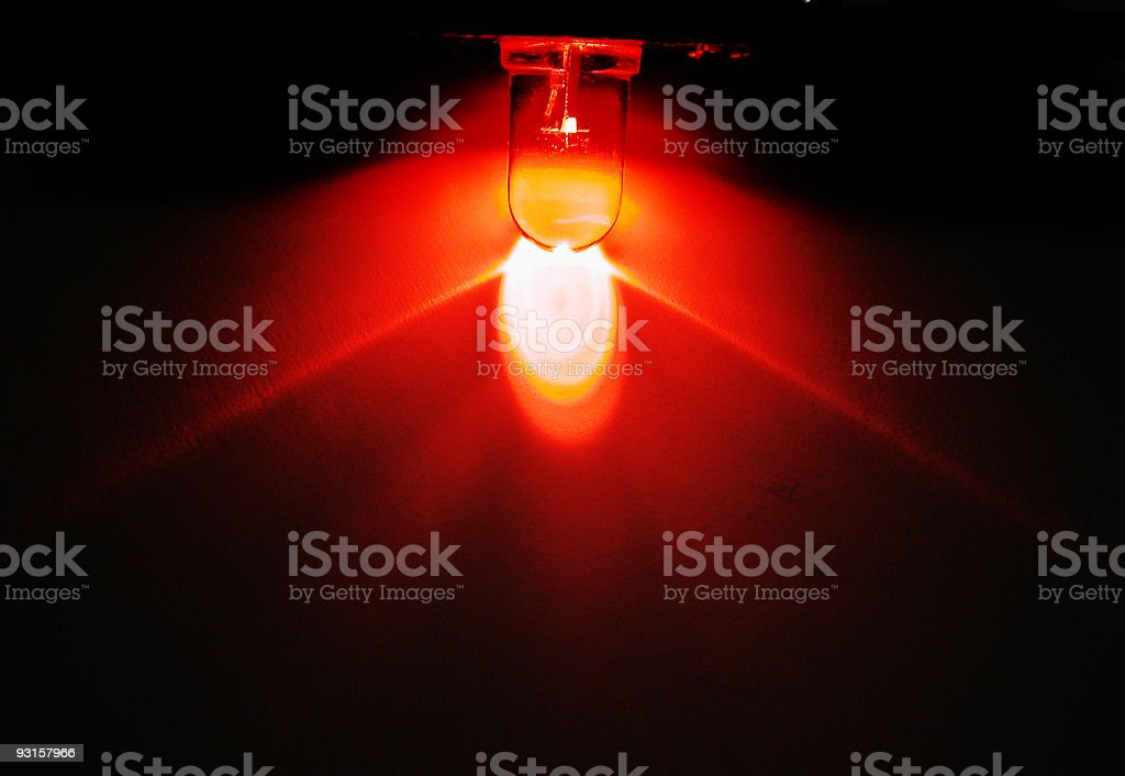 Red LED royalty-free stock photo