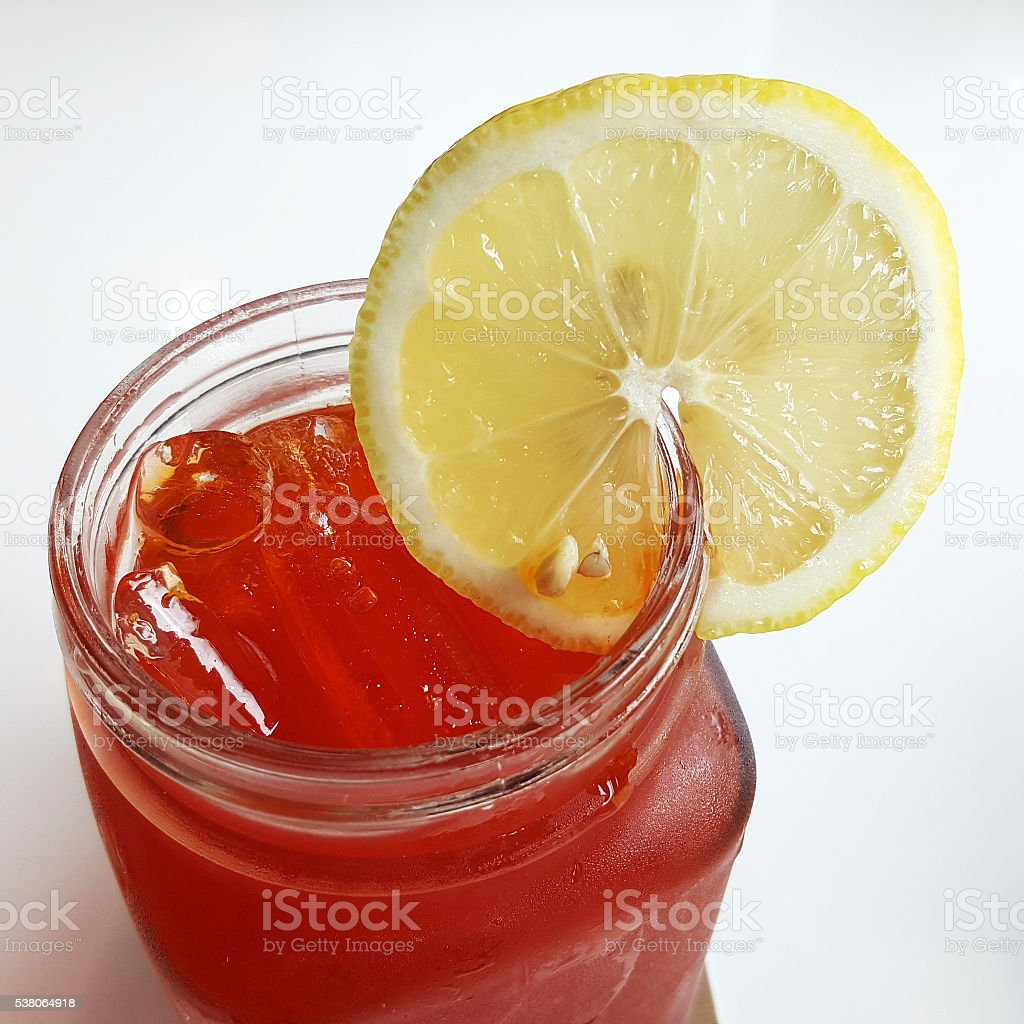 Red Lemon Tea stock photo